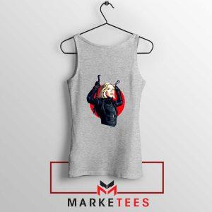 Marvels Black Widow Superhero Sport Grey Tank Top