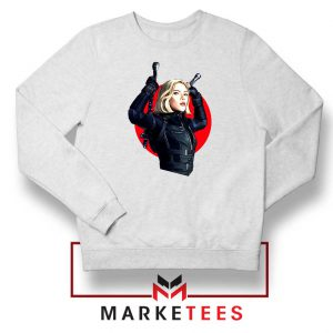 Marvels Black Widow Superhero Sweatshirt