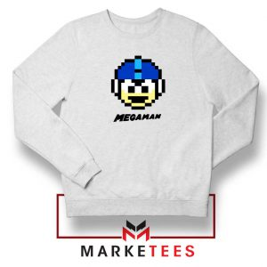 Mega Man Game Pixel Face Sweatshirt