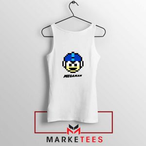 Mega Man Game Pixel Face Tank Top