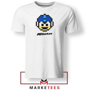Mega Man Game Pixel Face Tshirt