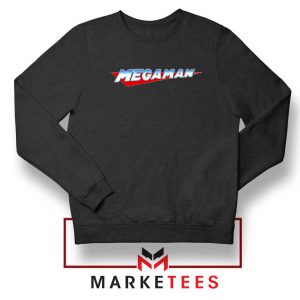 Mega Man Logo Gaming Black Sweatshirt