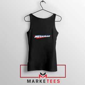Mega Man Logo Gaming Black Tank Top