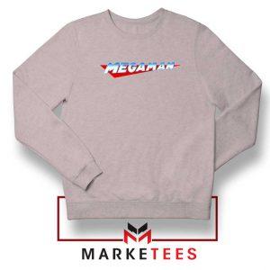 Mega Man Logo Gaming Grey Sweatshirt