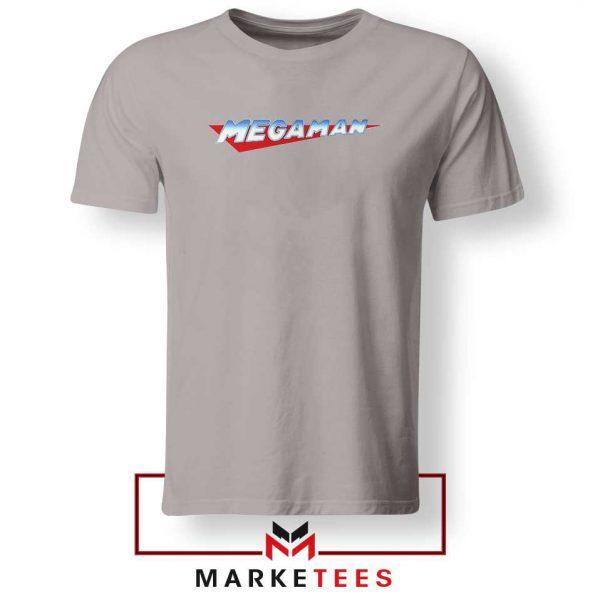 Mega Man Logo Gaming Grey Tshirt