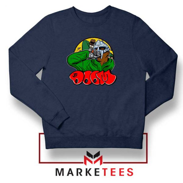Mf Doom New Rapper Navy Blue Sweatshirt