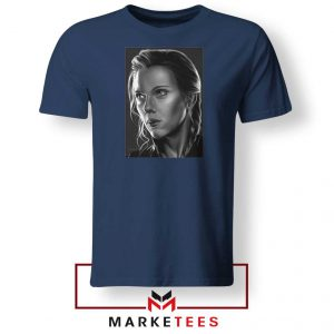 Natasha Romanoff Portrait Best Navy Blue Tshirt