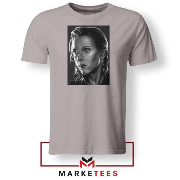Natasha Romanoff Portrait Best Sport Grey Tshirt