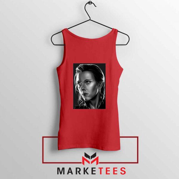 Natasha Romanoff Portrait Cheap Red Tank Top