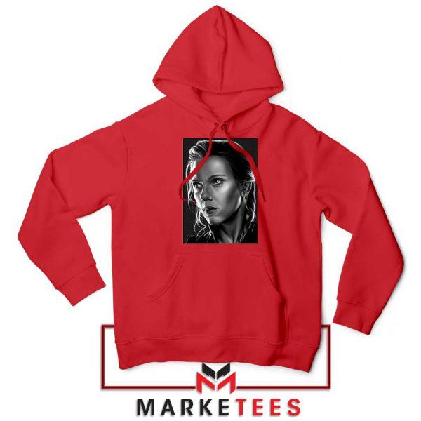 Natasha Romanoff Portrait New Red Hoodie