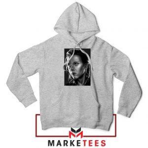 Natasha Romanoff Portrait New Sport Grey Hoodie