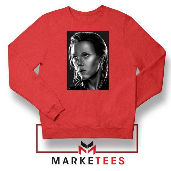 Natasha Romanoff Portrait Red Sweatshirt