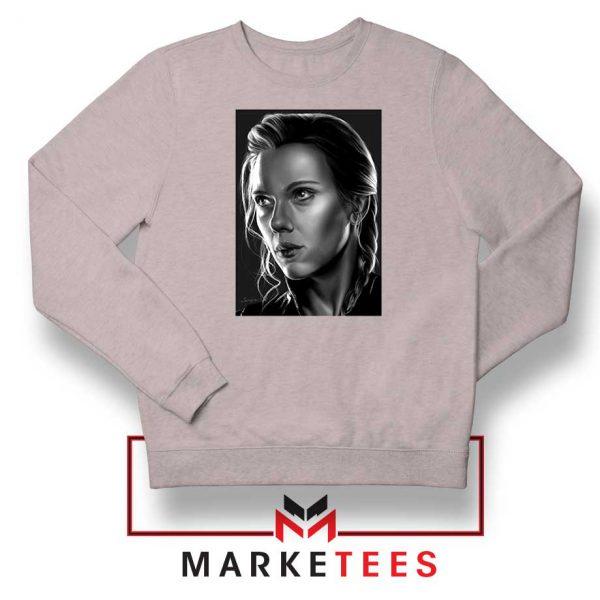 Natasha Romanoff Portrait Sport Grey Sweatshirt