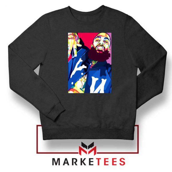 Nipsey Hussle Art Illustration Black Sweatshirt