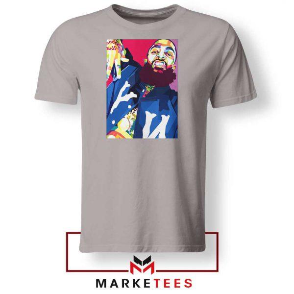 Nipsey Hussle Art Illustration Sport Grey Tshirt