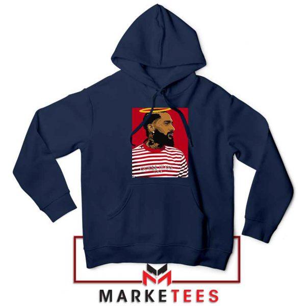 Nipsey Hussle RIP Rapper Navy Blue Hoodie