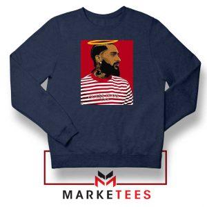 Nipsey Hussle RIP Rapper Navy Blue Sweatshirt