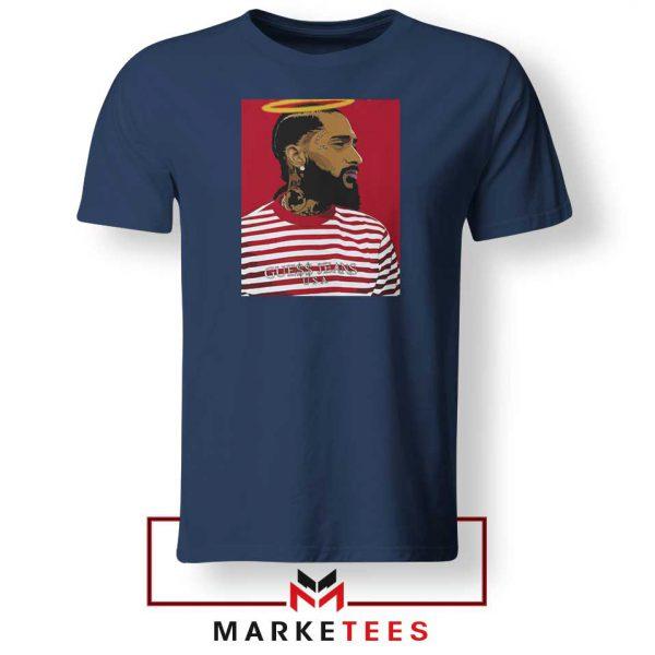 Nipsey Hussle RIP Rapper Navy Blue Tshirt