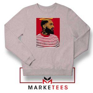 Nipsey Hussle RIP Rapper Sport Grey Sweatshirt