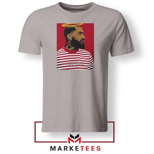 Nipsey Hussle RIP Rapper Sport Grey Tshirt