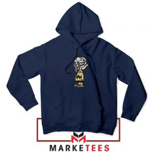 Peanuts Gang MF Doom Cheap Navy Blue Hoodie