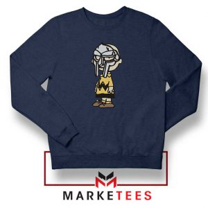 Peanuts Gang MF Doom New Navy Blue Sweatshirt