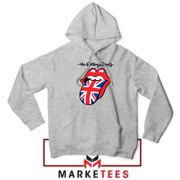 Rolling Stones Band UK Tongue Grey Hoodie