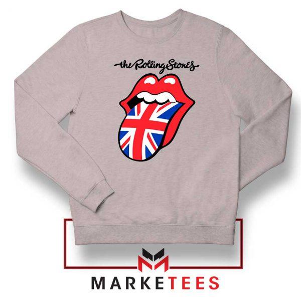 Rolling Stones Band UK Tongue Grey Sweatshirt