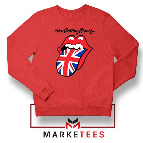 Rolling Stones Band UK Tongue Red Sweatshirt