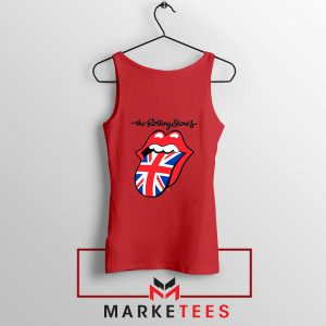 Rolling Stones Band UK Tongue Red Tank Top