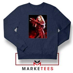 Scarlet Witch Kinder Marvel Navy Blue Sweatshirt