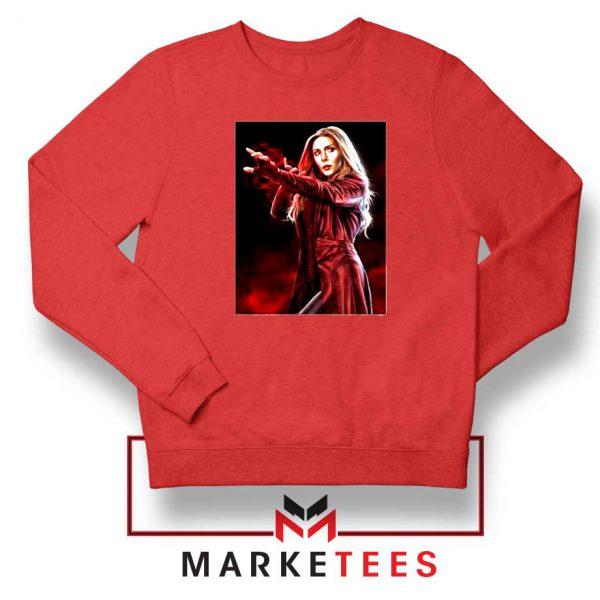 Scarlet Witch Kinder Marvel Red Sweatshirt