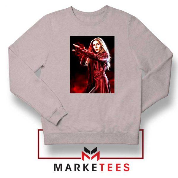 Scarlet Witch Kinder Marvel Sport Grey Sweatshirt