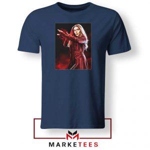 Scarlet Witch Kinder Superhero Navy Blue Tshirt