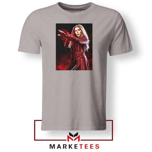 Scarlet Witch Kinder Superhero Sport Grey Tshirt