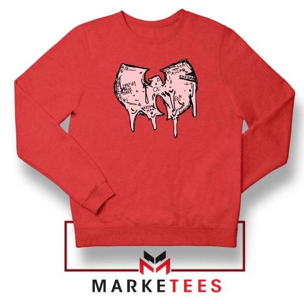 Shop Wuu Hiphop Music Cheap Red Sweatshirt