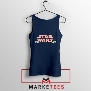 Star Wars Easter Chest Logo Navy Blue Tank Top