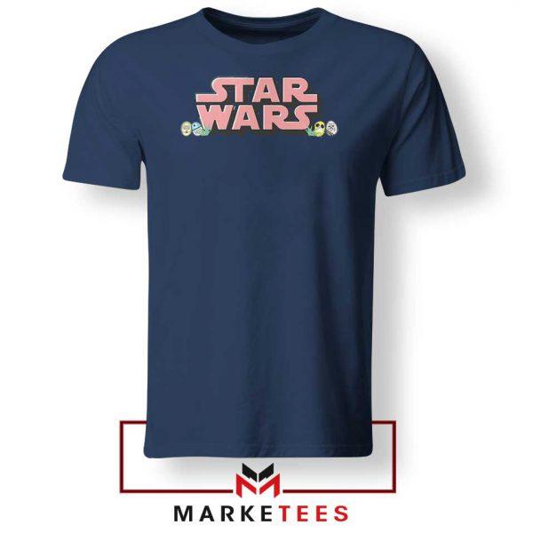 Star Wars Easter Chest Logo Navy Blue Tshirt