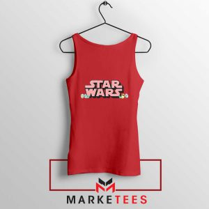 Star Wars Easter Chest Logo Red Tank Top