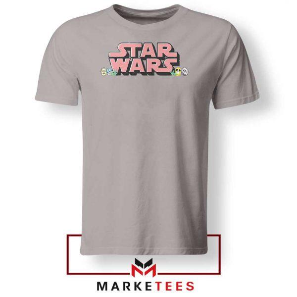 Star Wars Easter Chest Logo Sport Grey Tshirt