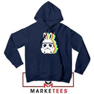 Stormtrooper Easter Ears Best Navy Blue Hoodie