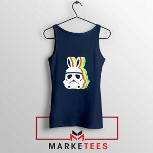 Stormtrooper Easter Ears Cheap NAvy Blue Tank Top