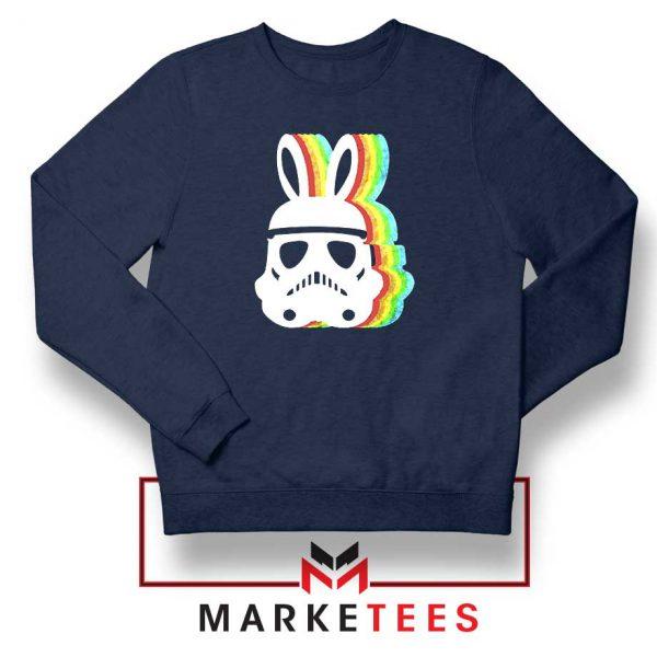 Stormtrooper Easter Ears Navy Blue Sweatshirt
