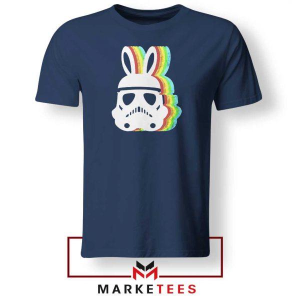 Stormtrooper Pastel Easter Ears Navy Blue Tshirt