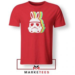 Stormtrooper Pastel Easter Ears Red Tshirt