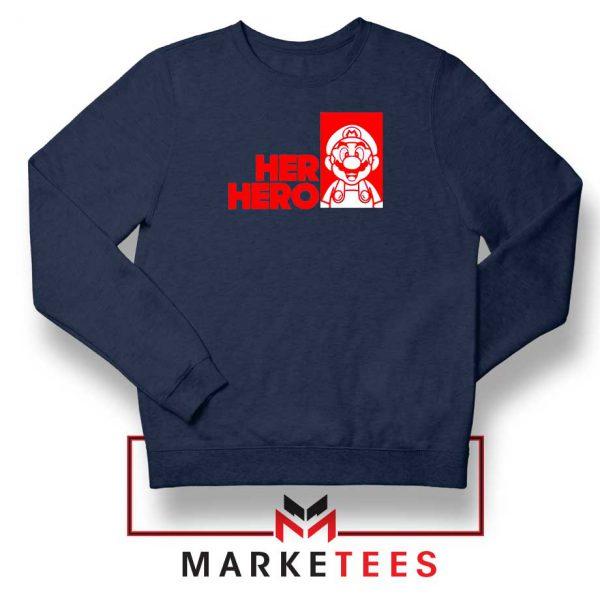Super Mario Game Her Hero Navy Blue Sweatshirt