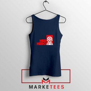 Super Mario Game Her Hero Navy Blue Tank Top