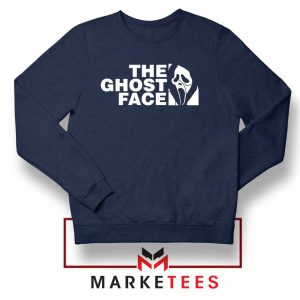 The Ghost Face Halloween Best Navy Blue Sweatshirt
