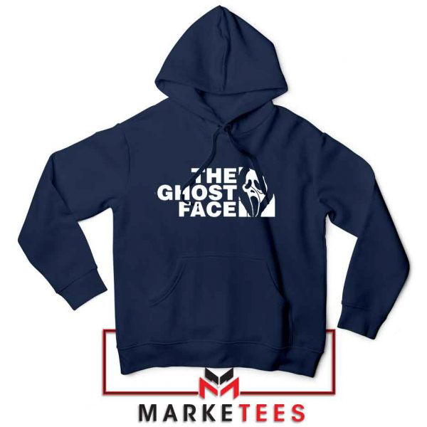 The Ghost Face Halloween Cheap Navy Blue Hoodie