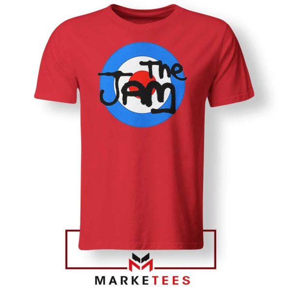 The Jam Rock Band Nice Logo Red Tshirt